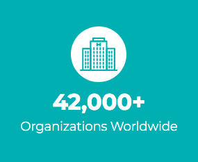 42,000+ Organizations Served Worldwide